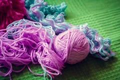 美丽的色的羊毛 羊毛纹理的抽象照片 库存图片