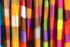 美丽的色的薄软绸子 免版税库存图片
