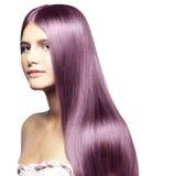 美丽的色的头发 免版税库存图片