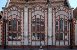 美丽的艺术Nouveau房子的细节在Cakovec,克罗地亚 库存照片