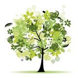 美丽的花卉结构树 图库摄影
