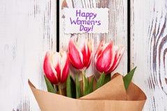 美丽的花和卡片 免版税库存照片