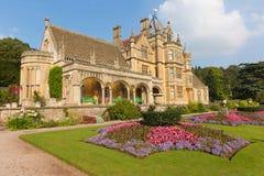 以美丽的花园为特色的Tyntesfield议院Wraxhall北部萨默塞特英国英国维多利亚女王时代的豪宅 免版税库存图片