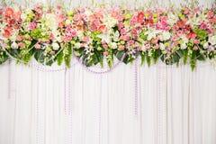 美丽的花婚礼装饰 免版税库存图片