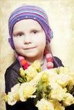 美丽的花束女孩 免版税图库摄影