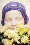 美丽的花束女孩 图库摄影