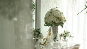 美丽的花束新娘 股票视频