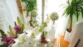 美丽的花束新娘 股票录像