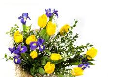 美丽的花束查出的白色 免版税库存照片
