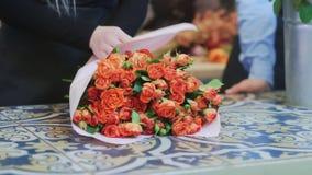 美丽的花束玫瑰 股票视频