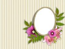 美丽的花束花卉框架 免版税库存照片