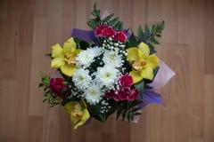 美丽的花束花 库存照片