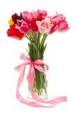 美丽的花束郁金香 免版税库存照片