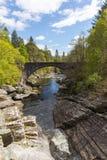 美丽的苏格兰英国Invermoriston桥梁 库存图片