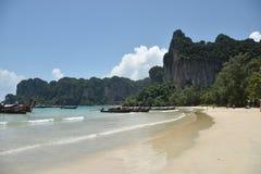 美丽的莱莉海滩在甲米府,泰国南部 库存照片
