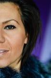 美丽的蓝眼睛妇女年轻人 免版税库存照片
