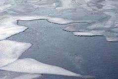 美丽的蓝色冻结的灰色水 免版税库存图片