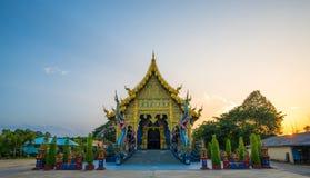 美丽的蓝色寺庙 库存照片