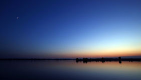 美丽的蓝色横向天空 免版税库存照片