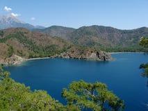 美丽的蓝色湖水 库存图片