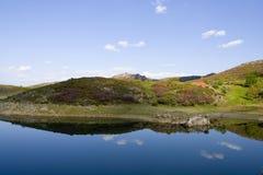 美丽的蓝色盐水湖天空 免版税库存照片
