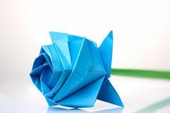 美丽的蓝色花origami 库存照片