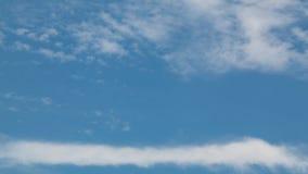 美丽的蓝色覆盖天空 背景蓝天 空间f 免版税图库摄影