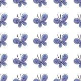 美丽的蝴蝶无缝的样式 也corel凹道例证向量 库存图片