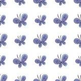 美丽的蝴蝶无缝的样式 也corel凹道例证向量 库存照片