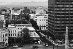 美丽的街市阿什维尔 免版税库存照片