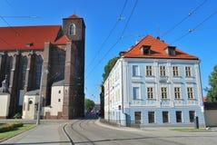 美丽的街道在弗罗茨瓦夫 库存图片