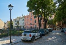美丽的街道在老贝尔格莱德 库存照片