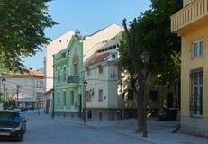 美丽的街道在老贝尔格莱德 库存图片