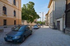 美丽的街道在老贝尔格莱德 免版税图库摄影