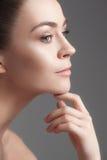 美丽的表面女孩 理想的皮肤 图库摄影