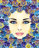 美丽的表面妇女 向量例证