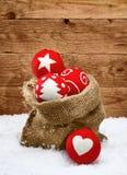 美丽的被手工造的圣诞节装饰 库存图片