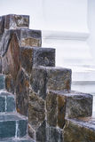 美丽的装饰内部大理石楼梯 库存图片