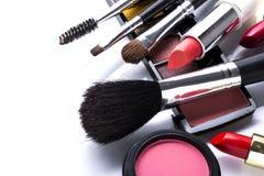 美丽的装饰化妆用品 免版税库存照片