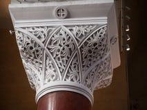 美丽的装饰品-大理石支柱 库存图片