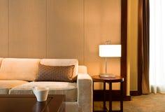 美丽的装饰的生存精密空间沙发 免版税库存图片