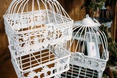 美丽的装饰鸟笼特写镜头 库存照片