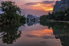 美丽的裕隆河 免版税库存图片