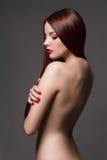 美丽的裸体妇女年轻人 免版税库存图片