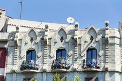 美丽的西班牙葡萄酒大厦在巴塞罗那,西班牙语 库存图片