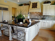 美丽的设计员厨房 免版税库存照片