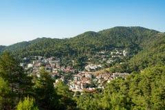 美丽的谷射击的土耳其旅游村庄 免版税图库摄影