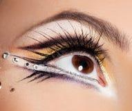 美丽的象女人的眼睛 库存图片