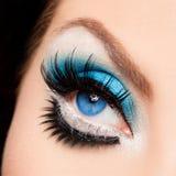 美丽的象女人的眼睛 免版税图库摄影