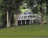 美丽的豪宅在夏天 库存图片
